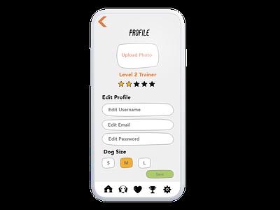 Dog E Data, UI Design brand branding typography form settings fitbit animal pet profile design googi interactive app mobile ux ui