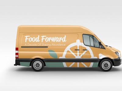 Food Forward - Delivery Van colby visual identity typography clites adobe logotype brand design nonprofit orange mockup branding logo forward food