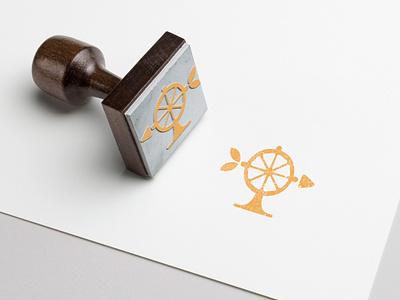 Food Forward - Stamp photoshop illustrator adobe mockup branding brand design mark orange colby clites logo forward food