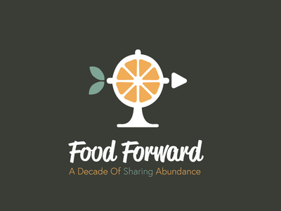 Food Forward - Logo Design vector typography adobe logodesign gdsa ucf artsatucf colby clites logo design logos logotype branding brand forward food design logo