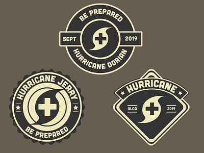 Hurricare Badges wilderness patch shield badges badge design adobe stock adobe live live xd adobe clites health visual graphic branding brand design badge hurricane hurricare