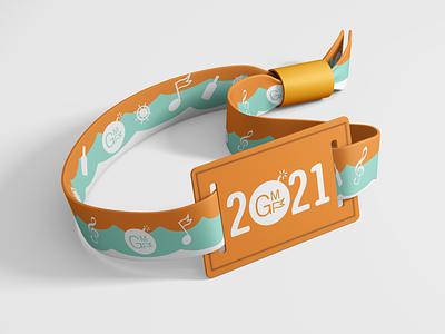 Gasparilla Music Festival - Wristband bracelet visual graphic typography logo design brand event wristband mockup fl florida tampa gmf clites colby branding festival music gasparilla