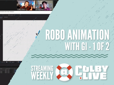 Robo Animation Tutorial with Gi and Colby.LIVE character zoom waves ae ai illustrator adobe livestream tutorial animation robot robo robots after effects stream colby live clites gi colby.live