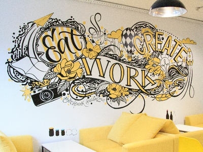 Eat Work Create Mural