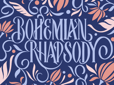 Bohemian Rhapsody photoshop adobe illustrator design pattern lettering procreate