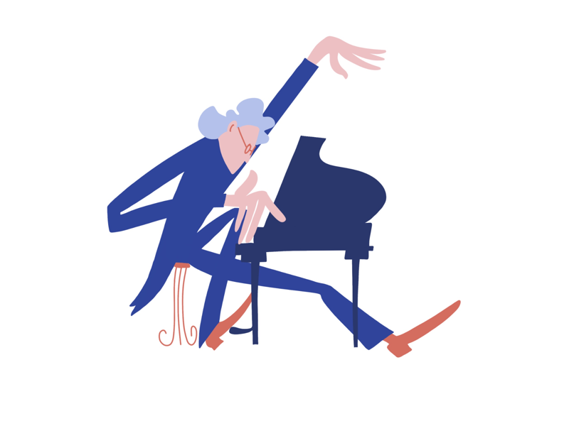 Inspired piano player. flat illustration flat piano player piano photoshop illustrator adobe illustrator adobe photoshop illustration procreate