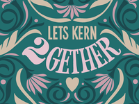 "Designer Valentines card ""lets kern together """