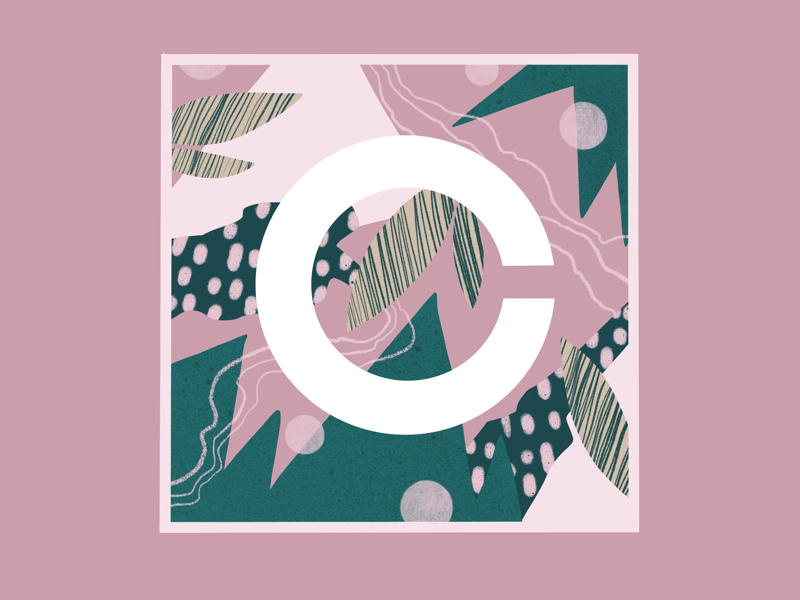 C for 36 days of type c letter pattern abstract lettering adobe illustration procreate