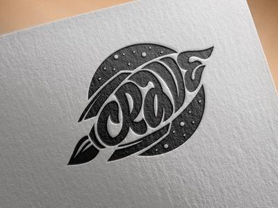 Crave logo company logo business card space rocket illustration vector illustrator adobe illustrator logo
