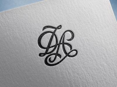 D&A Monogram adobe photoshop adobe illustrator handlettering lettering monogram letter mark monogram logo monogram logo design logotype logo