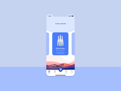 Water Delivery UI concept oasis sand desert water vector ui design illustration