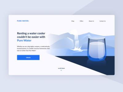 Water delivery desktop delivery uidesign uxui desktop ux ui water blue vector design illustration