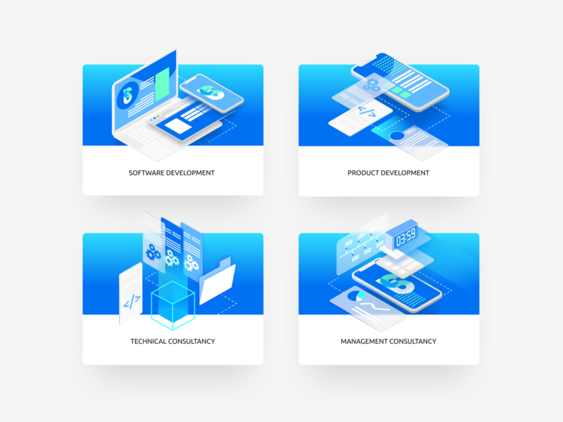 Swissprime illustrations software startup corporate website corporate design corporate website innovations developement iot switch ai switzerland swiss identity branding ui blue vector design illustration