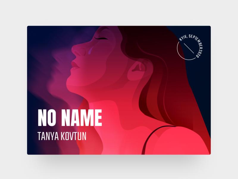 NO NAME track illustration music track music art music cover music app music pink ui blue vector design illustration