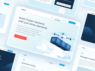 HORDA website UI flatter interface white clean landing page landing website digital vector blue ui uxui uiux mobile ui tablet desktop web mobile illustration design