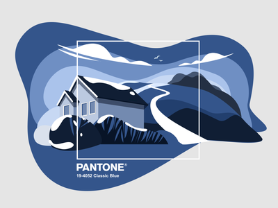 Classic Blue classic blue 2020 poster pantone vector design illustration blue