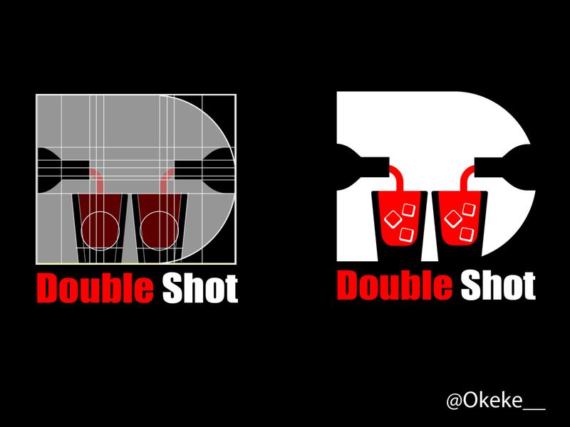 Double shot logo geometic kenya nairobi logo illustration