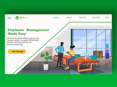 Website Landing page design human resource office illustration website landing page vector kenya illustration