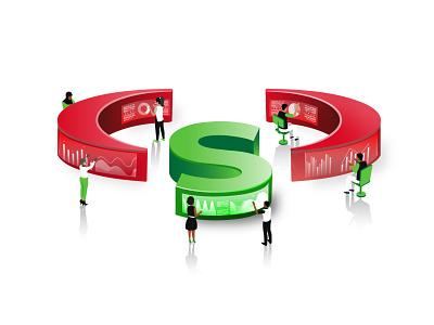 Isometric design concept ft Safaricom nairobi kenya safaricom isometric