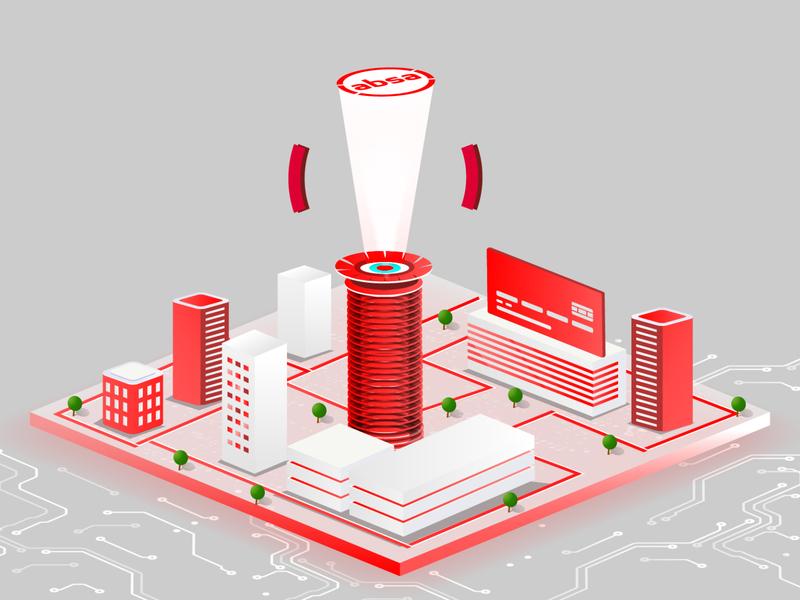 Absa Launch Kenya isometric concept nairobi kenya red isometric kenya kicc isometic absa