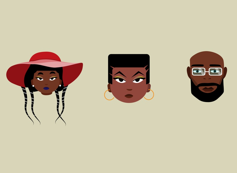 African Character Faces vector nairobi illustration africa kenya