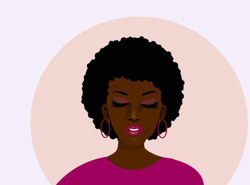 black woman lashes afro woman black woman vector africa illustrator illustration kenya