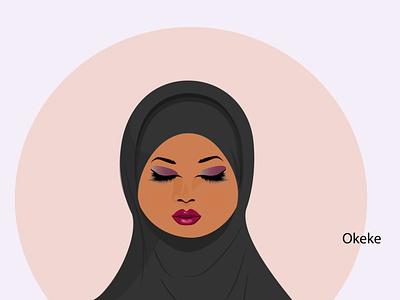 Muslim woman vector africa illustration kenya buibui muslim muslim woman