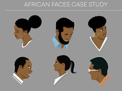 African Faces Case Study african faces vector illustration nairobi kenya