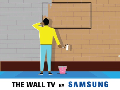 samsung wall tv concept