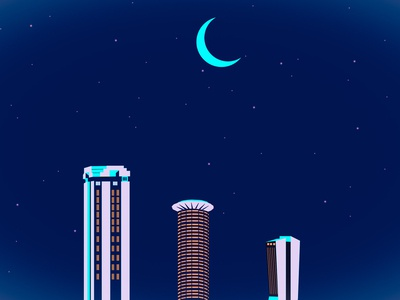 Nairobi skyline illustration