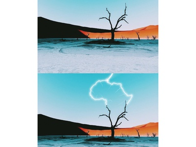 combining photography with illustrations