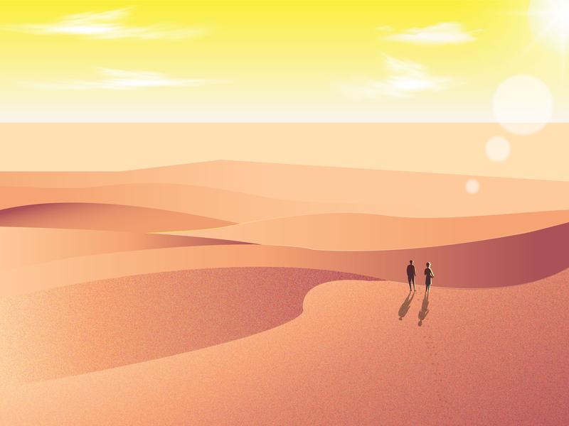 Suguta Valley,  dessert dessert sand suguta kenya africa illustrator illustration