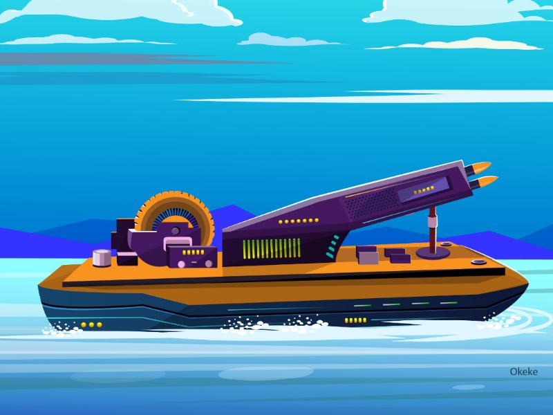 Logitech MouseShip kenya illustration illustrator vector battleship logitech