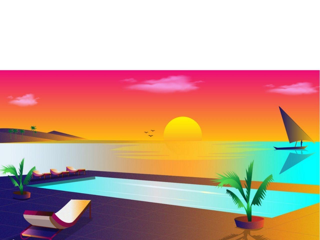 Diani Mombasa illustraion kenya beach sunset diani mombasa