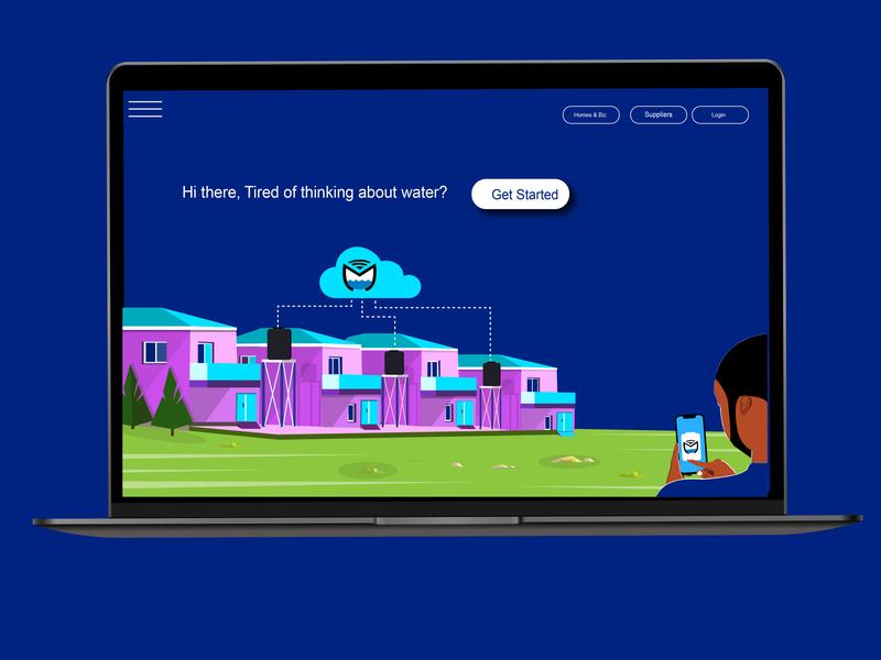 Website landing page landing page website design africa design vector illustraion