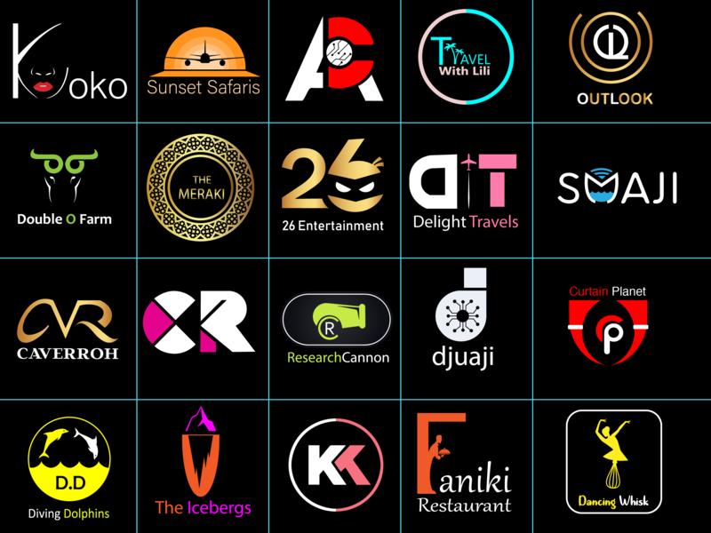 Logo collection africa kenya logo vector
