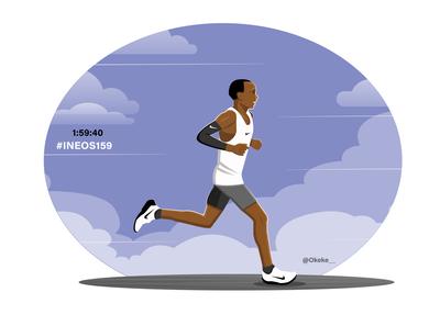 Eliud Kipchoge INEOS Challenge athletics runner marathon kenya kipchoge eliud