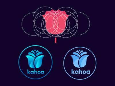 rose flower geometric logo