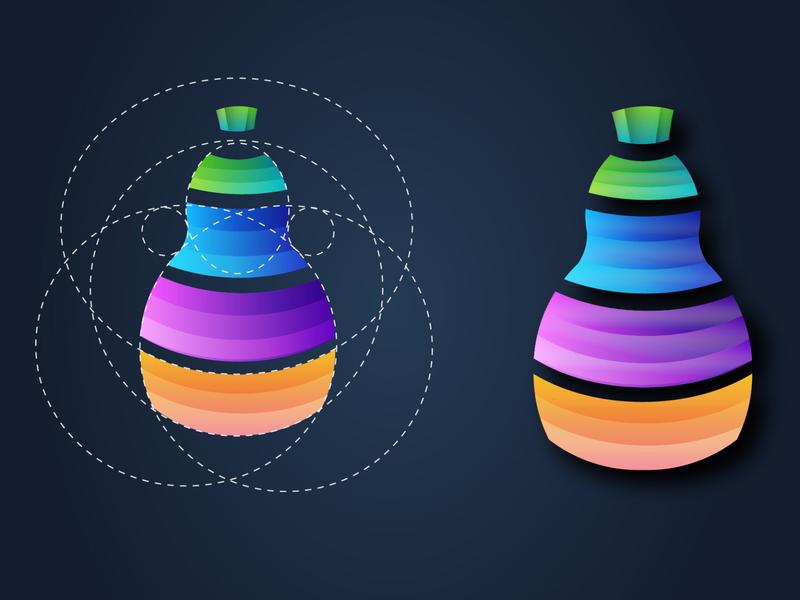 paint calabash colorful africa vector kenya calabash icon design gradient icon geometric logo colorful logo
