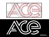 Ace finder geometric logo
