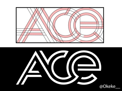 Ace finder geometric logo nairobi kenya illustrator logotype geometric logo