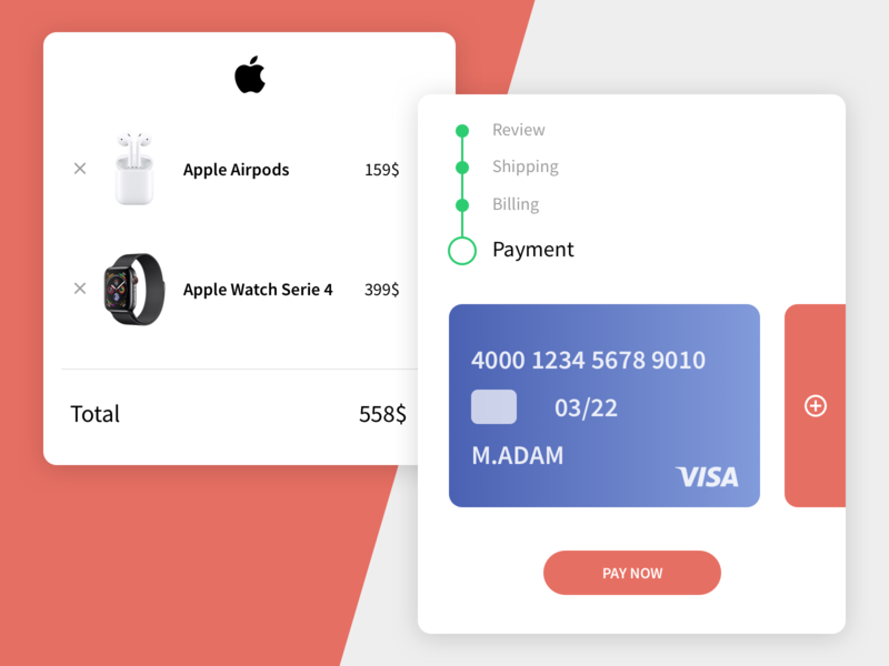 Daily UI #002 - Credit Card Checkout dailyui checkout process challenge dailyui 002 dailyuichallenge ux ui