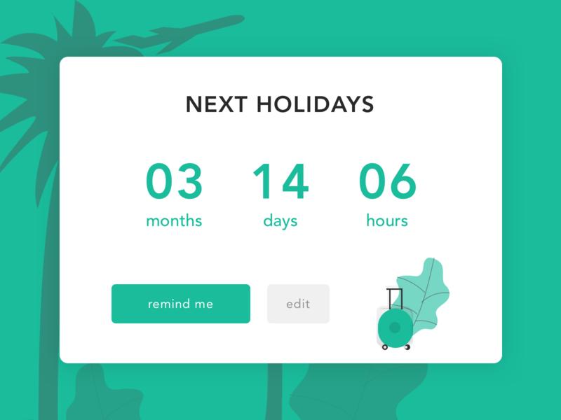 Daily UI #014 - Countdown Timer reminder holidays illustration daily 100 dailyui ui dailyuichallenge challenge countdown timer countdown count