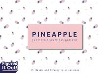 Pineapple geometric seamless pattern