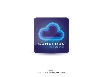 Daily Logo Challenge Day 14! - Cloud Computing Logo