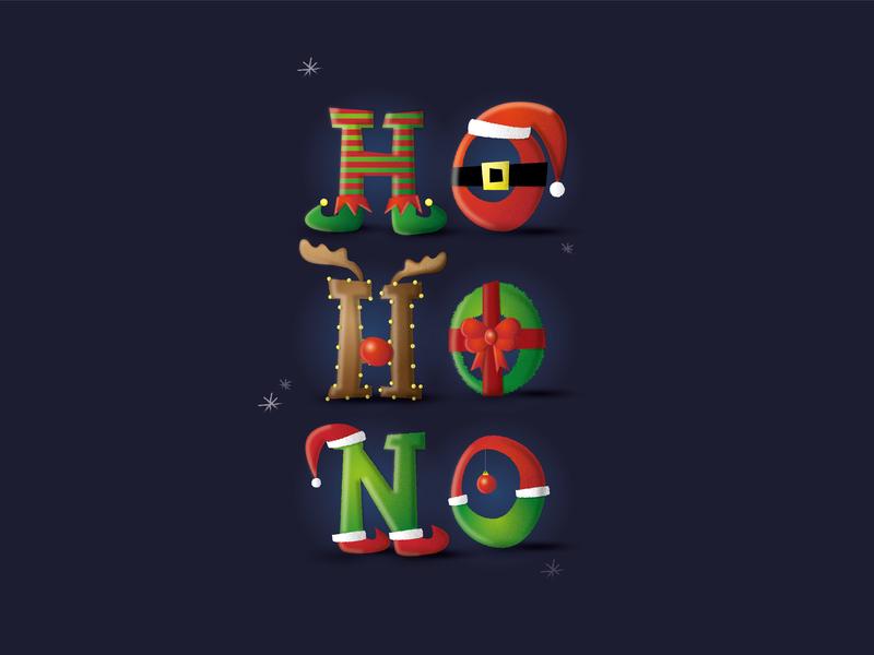 Ho! Ho! No! Merry Christmas Collection illustrator illustration funny elf society6 holiday winter christmas ball tree whishes card merry christmas wreath grinch reindeer santa claus hohono hohoho christmas