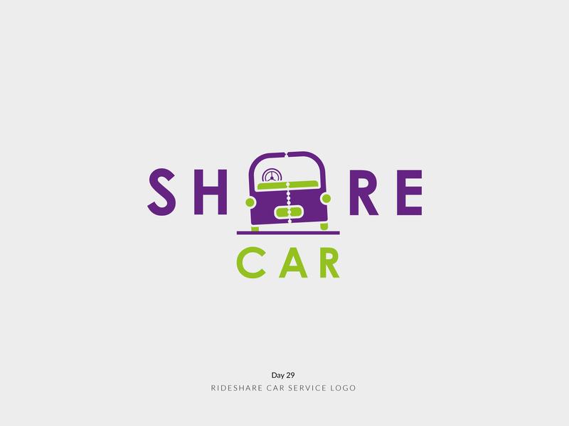 Daily Logo Challenge Day 29! - Rideshare Car Service Logo carshare car logoidea brand branding design logoinspire logoconcept logodesigner logodesign dailylogochallenge dailylogo logo logomark logotype