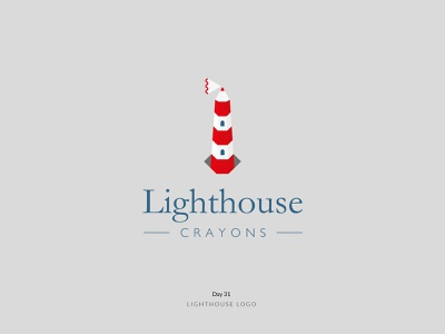 Daily Logo Challenge Day 31! - Lighthouse Logo crayons lighthouse logoidea logoideas logoconcept branding logodesign logodesigner dailylogochallenge dailylogo logomark logo logotype