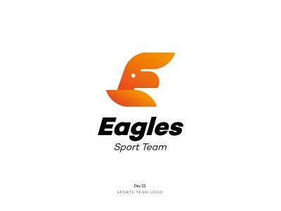 Daily Logo Challenge Day 32! - Sport Team Logo team sport eagle brand logoidea logoinspire logoconcept branding logodesign logodesigner dailylogochallenge dailylogo logomark logo logotype