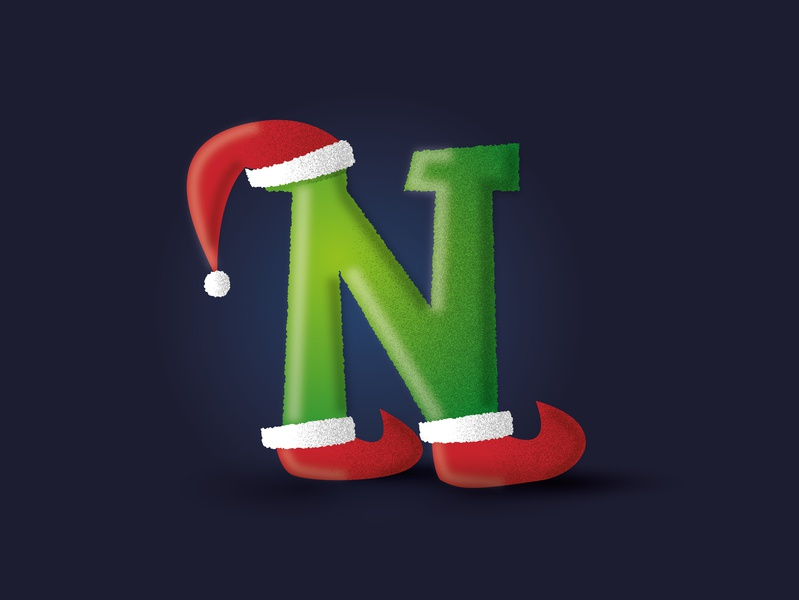 5 days till Christmas! santa claus lettern christmas card grinch santa christmas vector illustration